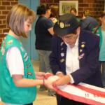 Presentation of American Flag to the Girls Scout Troop #3251